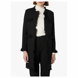L.K.Bennett Myia Tweed Coat, Black