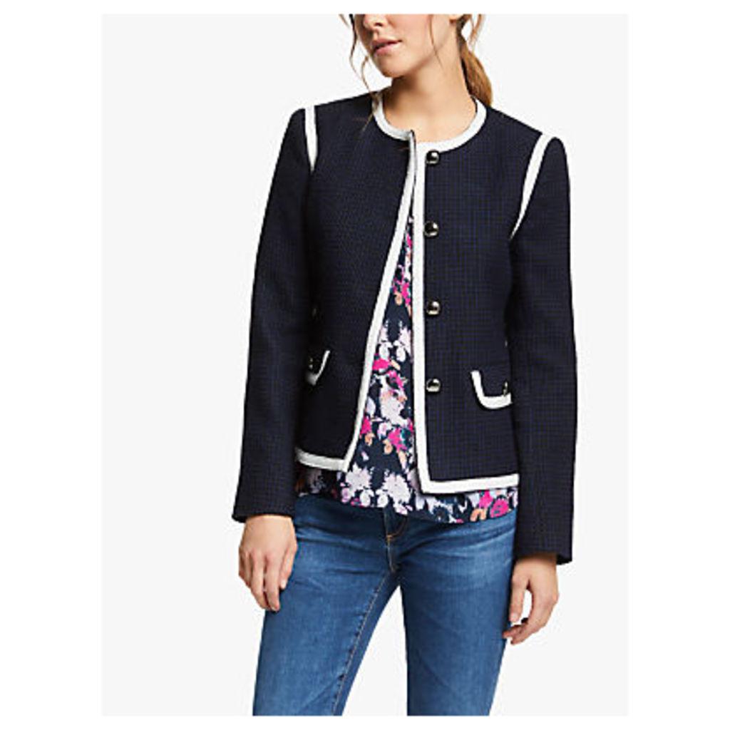 Helene For Denim Wardrobe Coco Jacket, Navy/White