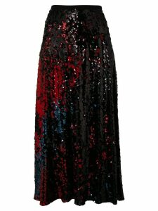 Talbot Runhof sequined midi skirt - Black