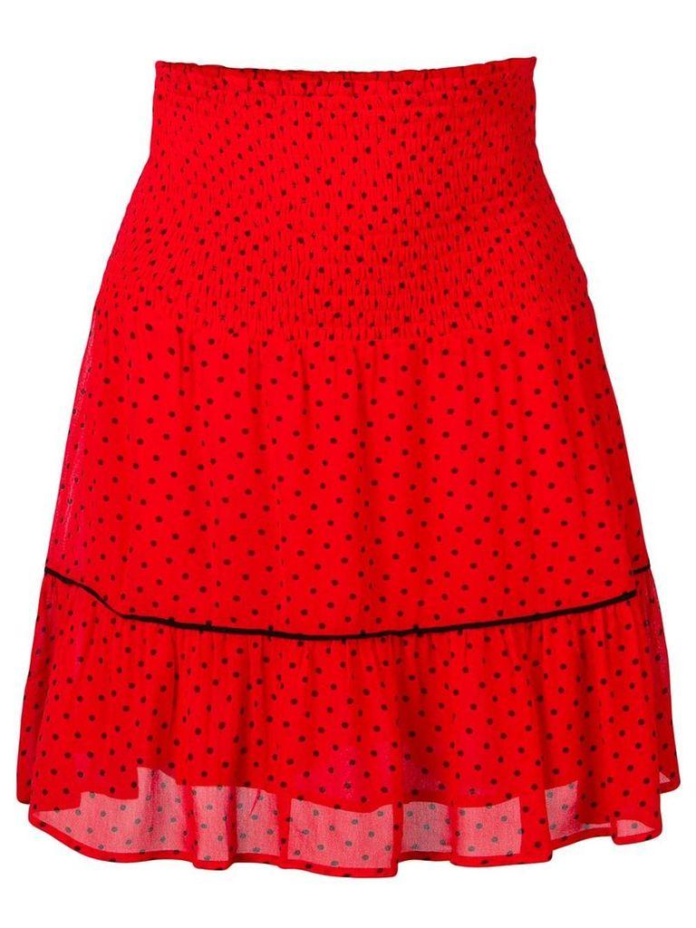Ganni Mullin georgette skirt - Red