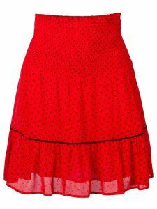 Ganni Mullin georgette skirt - Red