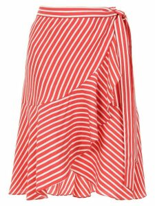 Adriana Degreas ruffled Italia skirt - Red