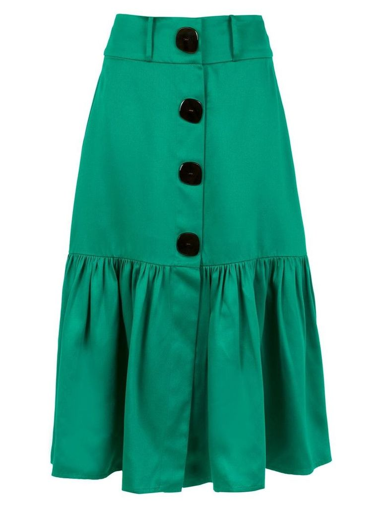 Adriana Degreas midi Italia skirt - Green