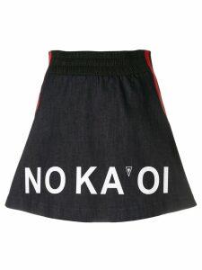 No Ka' Oi A-line logo track skirt - Blue