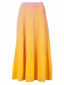 Derek Lam 10 Crosby Striped Knit Skirt - Yellow