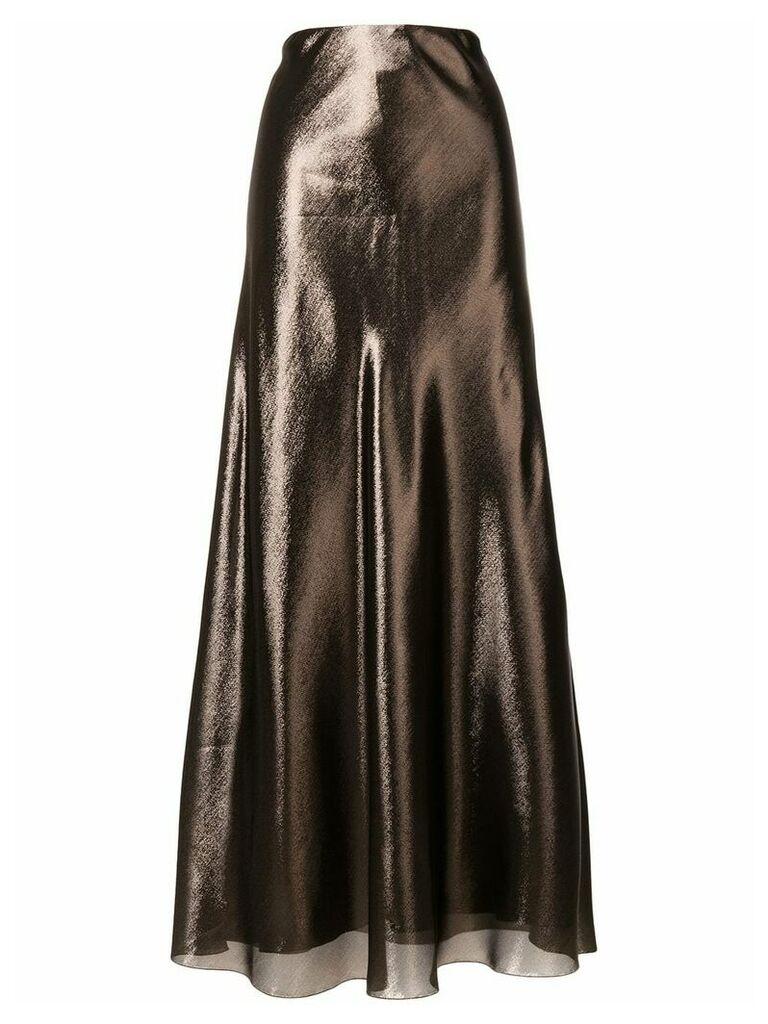 Alberta Ferretti high shine skirt - Metallic