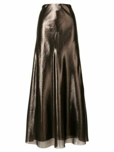 Alberta Ferretti high shine skirt - Metallic