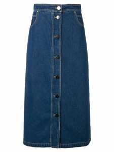Christian Wijnants dark denim skirt - Blue