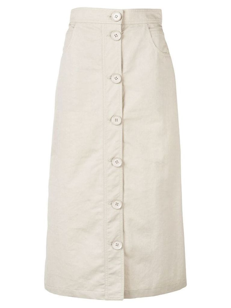 Christian Wijnants chino style a-line skirt - Brown