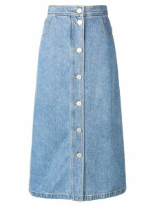 Christian Wijnants light washed denim skirt - Blue