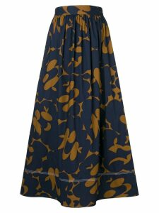 Marni printed midi skirt - Blue