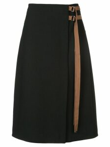 Tibi Anson belted skirt - Black