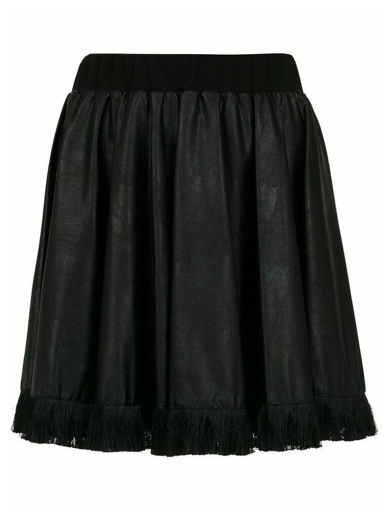 À La Garçonne fringed flared skirt - Black