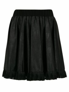 À La Garçonne fringed flared skirt - Black