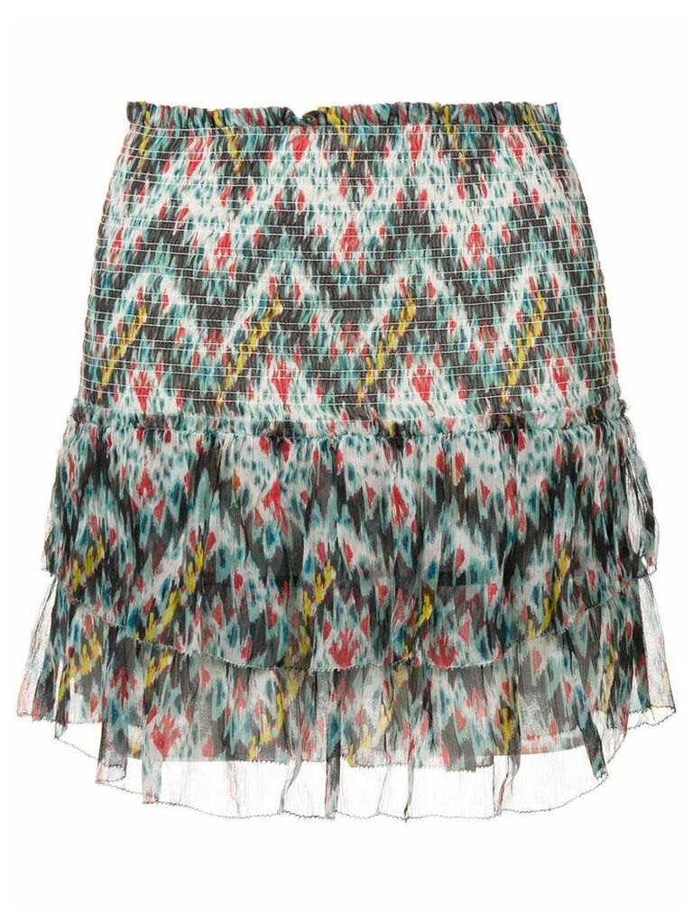 Isabel Marant Étoile tiered printed skirt - Blue