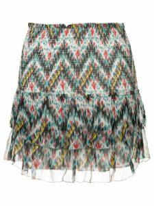 Isabel Marant Étoile tiered printed skirt - Blue