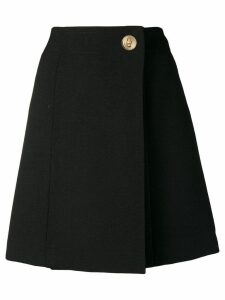 Givenchy A-line wrap skirt - Black