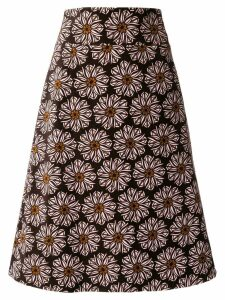 La Doublej a-line floral skirt - Brown