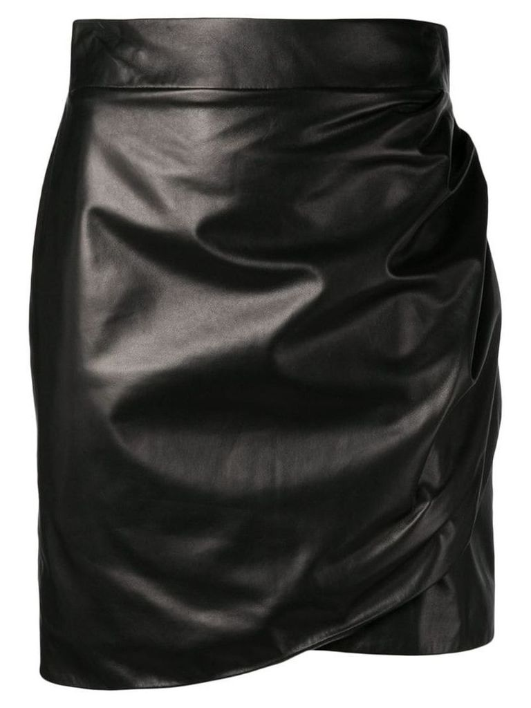 Versace draped effect short skirt - Black
