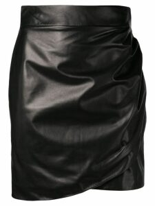 Versace draped effect short skirt - Black