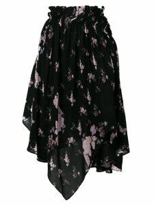Preen Line wild flower print skirt - Black