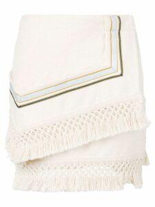 3.1 Phillip Lim Fringe asymetrical mini skirt - Neutrals