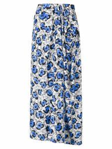 Christian Wijnants floral print draped skirt - White