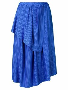 Christian Wijnants plisse tiered skirt - Blue