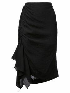 Josie Natori asymmetric mini skirt - Black