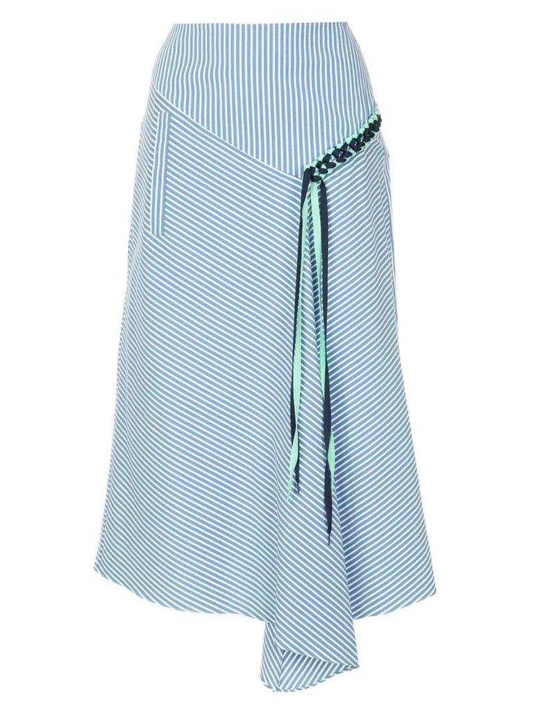 Tibi Kaia lanyard skirt - Blue