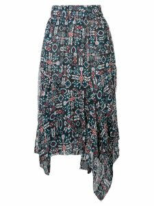 Isabel Marant Étoile printed asymmetric skirt - Black