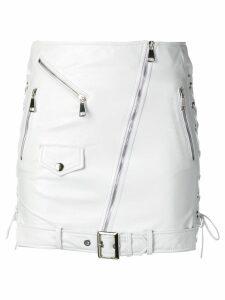 Manokhi fitted biker skirt - White