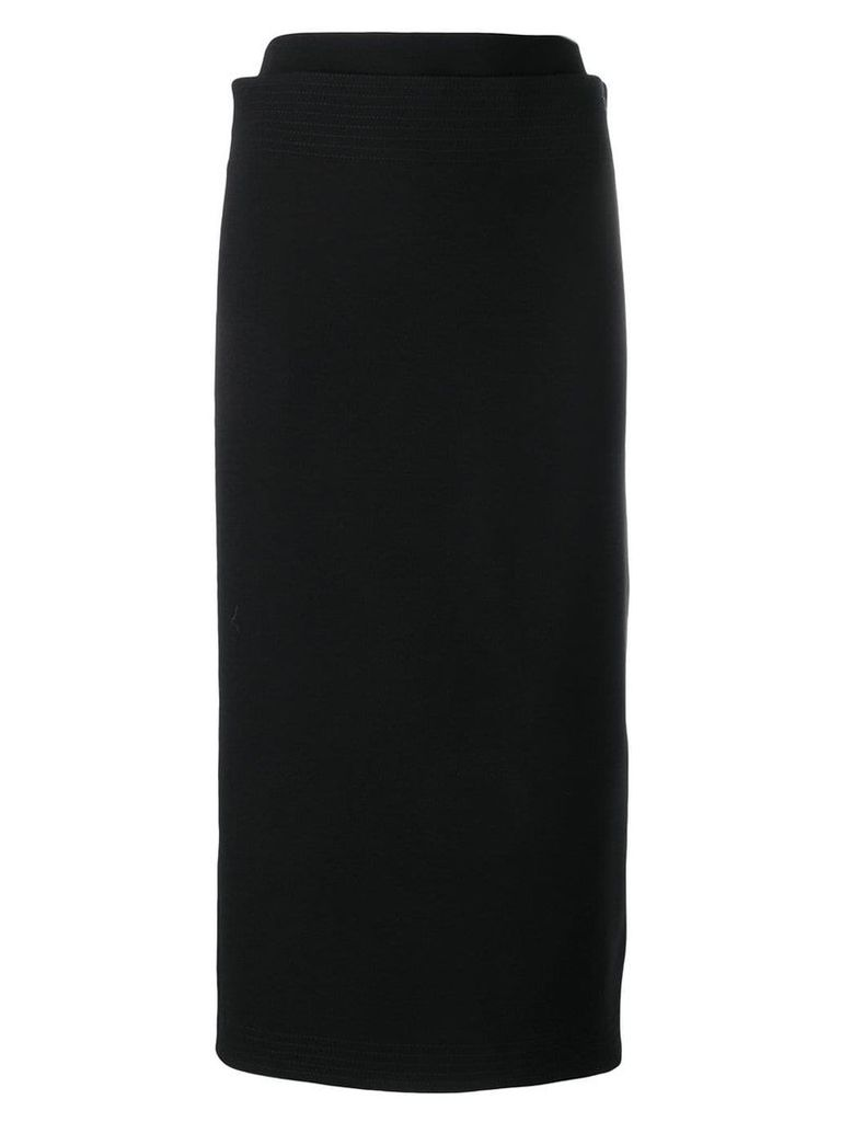 Victoria Beckham multistitch pencil skirt - Black