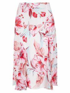 Reinaldo Lourenço silk floral skirt - Pink