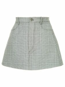 Dion Lee checked mini skirt - Black