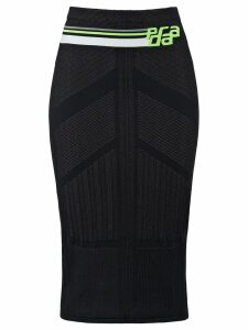 Prada technical knit skirt - Black