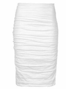 Nicole Miller Sandy ruched skirt - White