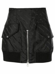 Alexander Wang logo cargo mini skirt - Black