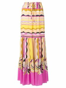 Emilio Pucci long drawstring waist skirt - Yellow