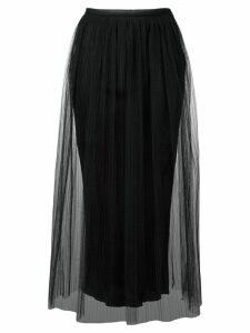 Maison Margiela tulle overlay skirt - Black