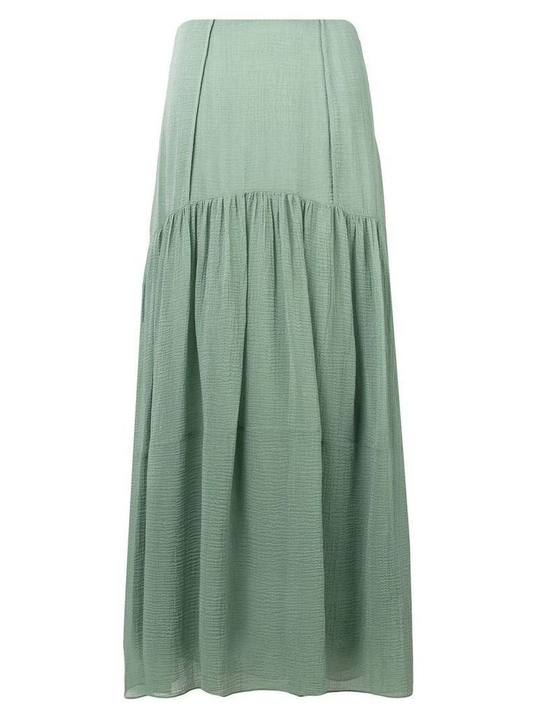 3.1 Phillip Lim long flared skirt - Green