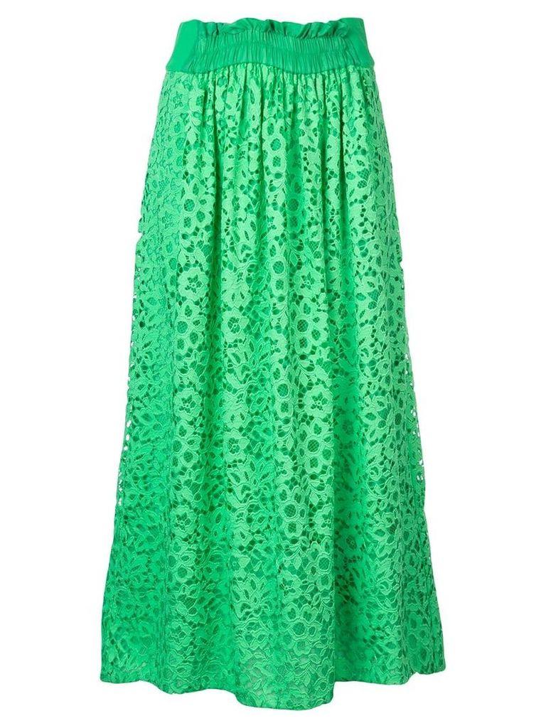 Tibi lace midi skirt - Green