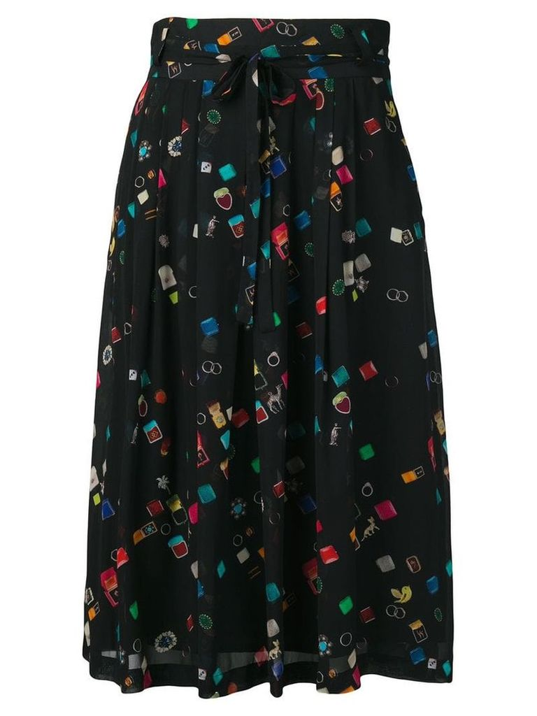 PS Paul Smith colour-block flared skirt - Black