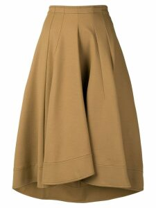 Jil Sander flared midi skirt - Neutrals