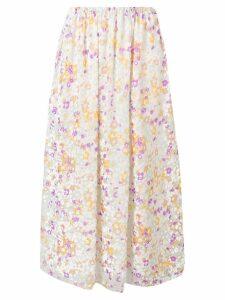 See By Chloé flora print midi skirt - White