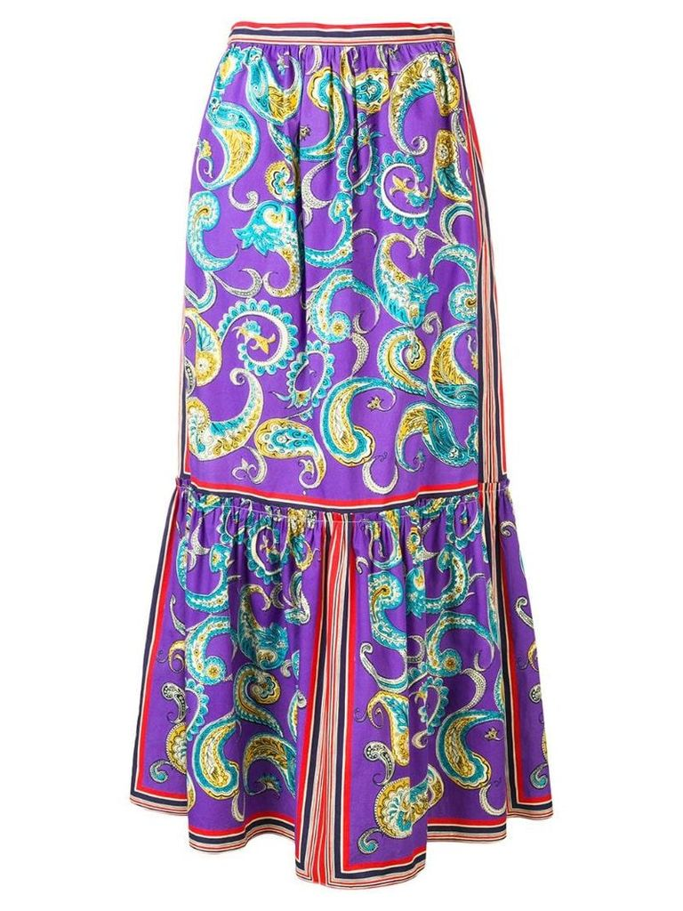 Philosophy Di Lorenzo Serafini paisley print skirt - Purple