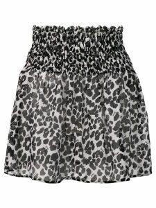 Fisico leopard print mini skirt - Black