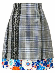 MSGM high-waisted layered skirt - Grey
