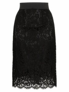 Dolce & Gabbana lace midi pencil skirt - Black