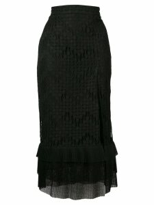 Just Cavalli layered midi skirt - Black